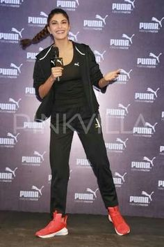 c75f5b8d8aa Jacqueline Fernandez was all sporty at the launch of Puma s flagship store  in New Delhi. Meanwhile