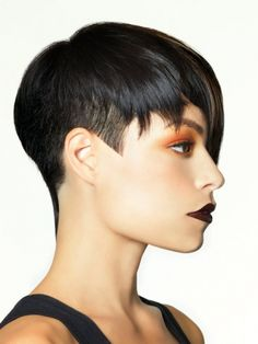 Planet Salon's take on a short pixie is simply stunning! Pulling this look… Undercut Hairstyles, Pixie Hairstyles, Undercut Pixie, Pixie Haircuts, Straight Hairstyles, Love Hair, Great Hair, Short Hair Cuts, Short Hair Styles