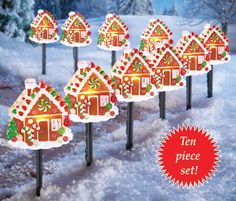 Gingerbread House Pathway Light Set
