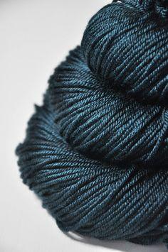 A dark storm is coming near  Silk/Merino DK Yarn by DyeForYarn, €19.50