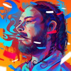 Post Malone', Digital, [2000x2000px] Posted by /u/39dap to /r/art