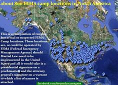 About 800 FEMA camp locations in North America | Anonymous ART of Revolution