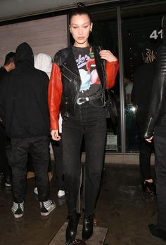 """Bella Hadid leaving Jon & Vinny's in Los Angeles """