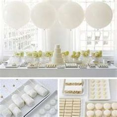 White party @Sarah Heim would def. use balloons to help define the space if you're in the gym with no ceiling to hang anything from.
