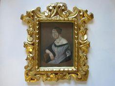 Pastel Guache Female Portrait Signed Dated G L Lewin 1848