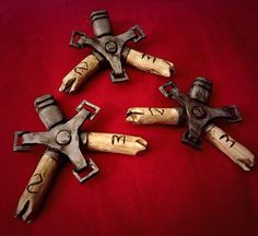 Modeled after Corvo Attanos bone charms, these are perfect to use for your own Corvo cosplay! These replicas can be made of either a high quality