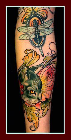 """Tattoo by Lars """"Lu's Lips"""" Uwe."""