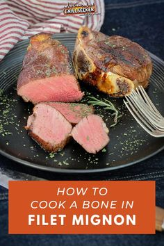 Learn how to cook a bone in filet mignon and check out the best grilled filet mignon recipes and steak recipes now! #grillingtips #grillingrecipes #filetmignon #filetmignonrecipes #steakrecipes Good Steak Recipes, Barbecue Recipes, Beef Recipes, Cooking Recipes, Grilling Tips, Grilling Recipes, Best Filet Mignon Recipe, Grilling The Perfect Steak, Omaha Steaks