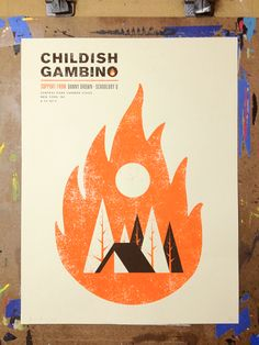 Childish Gambino - New York, NY Central Park Summer Stage by Nerl Says design Graphic Design Posters, Graphic Design Typography, Graphic Design Inspiration, Design Art, Print Design, Cover Design, Design Ideas, Illustration Design Graphique, Book Illustration