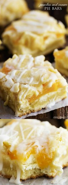 These delicious Peaches and Cream Bars from The Recipe Critic have the most delicious creamy cheesecake and peach pie filling in the center that you are going to LOVE!