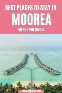 The 3 top honeymoon resorts in Moorea including all you need to know about the luxury resort with overwater bungalow in Moorea in French Polynesia - top beach Polynesian resort #tahitivacation #moorea Top Places To Travel, Top Travel Destinations, Beautiful Places To Travel, Cool Places To Visit, Moorea Tahiti, Polynesian Resort, Dream Vacation Spots, Overwater Bungalows