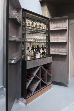 Sycamore and Copper Cabinet Bar