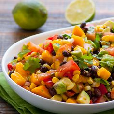 Mango Black Bean Salad - made this the other night & it was to die for! Even my sweet girl & husband (who claimed to hate black beans) loved it!!!