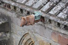 Gargoyle of the Day: Melrose Abbey, Scotland