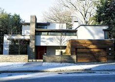 Photo: Keller & Keller   thisoldhouse.com   The 2005 Cambridge House: Natural materials, well–crafted details, and an open–plan made a minimalist house inviting