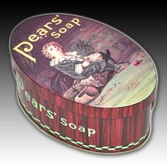 PEARS SOAP OVAL METAL ADVERTISING TIN REPLICANS ENDORSED BY LILLIE LANGTRY