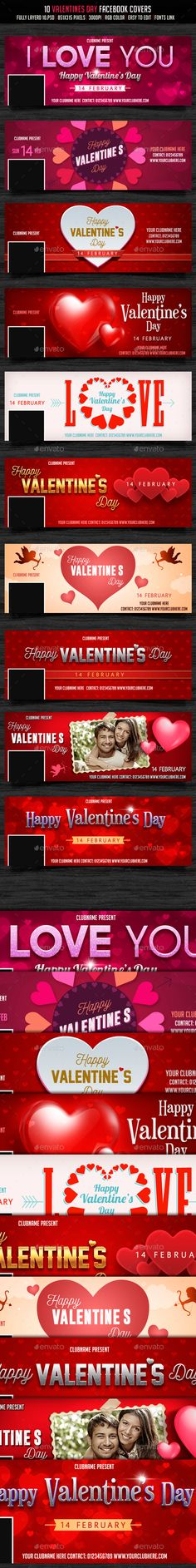 Valentines Day Facebook Cover Template PSD #design Download: http://graphicriver.net/item/valentines-day-facebook-cover/14377843?ref=ksioks