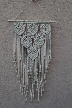 Macrame Wall Hanging B01N9RZEQW by Mrcolmar on Etsy