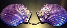 Mermaid shell bra top. $75.00, via Etsy.