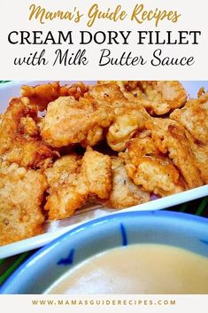 This Cream dory fillet with Milk butter sauce is much easier and quick to do. If you think the flour egg breadcrumbs process is Crab Dishes, Seafood Dishes, Fish Fillet Sauce, Cream Dory Recipe Fish, Fish Recipes, Seafood Recipes, Paleo Recipes, Fried Fish, Fish Fry
