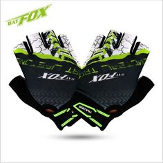 2017 new arrival pro team BAT FOX cycling gloves guantes ciclismo High quality unisex half finger bicycle bike gloves for MTB