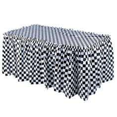 checkered flag table skirt from Target