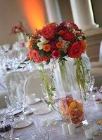 Wedding, Flowers, Reception, Red, Centerpiece, Mandy scott flowers
