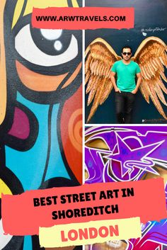 Discover some of the best examples of street art in Shoreditch, one of the trendiest neighbourhoods in London! London Life, London Street, Europe Travel Guide, Travel Destinations, Best Street Art, Things To Do In London, Ireland Travel, London Travel, European Travel