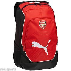 New puma arsenal #sports football casual #school #college gym accessories backpac,  View more on the LINK: 	http://www.zeppy.io/product/gb/2/151785615181/