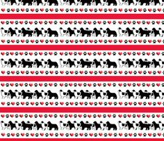 Newfoundland dog hearts and paw prints border by KathysCraftShop, $24.00