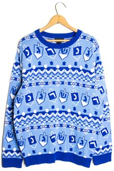 c51c6d8a1c1f0 Sweater parties aren't just for christmas anymore! Wear your new Hanukkah  Fairisle Sweater this year!