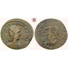 Römische Provinzialprägungen, Kilikien, Tarsos, Otacilia Severa, Frau Philippus I., Bronze, ss/f.ss: Kilikien, Tarsos. Bronze 31 mm.… #coins