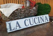 Italian Kitchen Sign La Cucina The Kitchen Tuscan Decor Farmhouse Style Wood Sign Tuscan Decorating Kitchen Signs Tuscan Decorating Kitchen