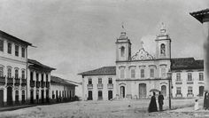Largo da Sé, today Praça da Sé, as photographed by Militão Azevedo in São Paulo in 1862.