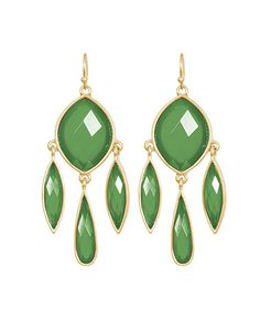 Take a look at this Green Madeleine Drop Earrings by Towne & Reese on #zulily today! $5.99