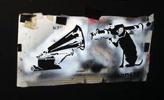 Banksy - Stencil HMV Bazooka Dog