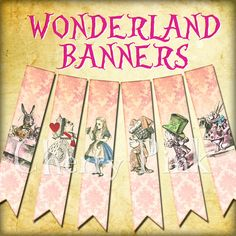 Hey, I found this really awesome Etsy listing at https://www.etsy.com/listing/107926111/alice-in-wonderland-banner-party