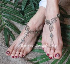 Women's BEACH Dress Sandal Barefoot Wedding Sandals SILVER Wedding Toes, Barefoot Sandals Wedding, Beach Wedding Shoes, Beach Shoes, Barefoot Beach, Bridal Flats, Beach Feet, Barefoot Shoes, Ankle Jewelry