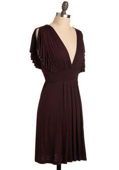 Plum Matte Jersey Dress by Modcloth