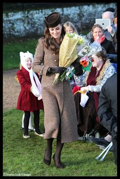 Kate looking classy as ever in a Moloh Coat for Christmas Day Services