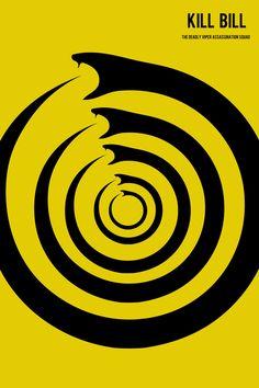 Kill Bill movie poster minimalist poster