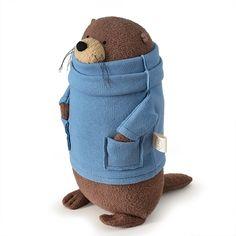 Reserved for Micha — Small Organic Stuffed Otter (Made to Order) - Fat Otter Stuffed Ani. Reserved for Micha — Small Organic Stuffed Otter (Made to Order) – Fat Otter Stuffed Ani Diy Bebe, Fabric Toys, Sewing Toys, Felt Toys, Softies, Plushies, Felt Animals, Diy Toys, Otters