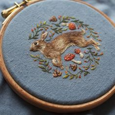 A rabbit piece I finished a little while ago :) #needlepainting #embroidery #rabbit