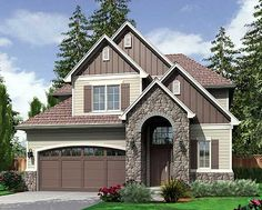 Plan W69134AM: 4 Bedroom Plan with Narrow Footprint