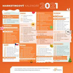 Infografika: Marketingový kalendář pro rok 2021 - eVisions.cz