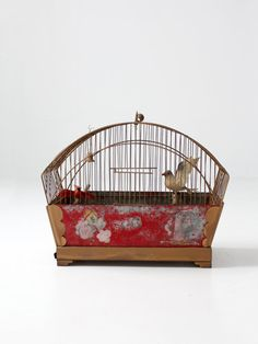 FREE SHIP antique bird cage hand painted birdcage by 86home