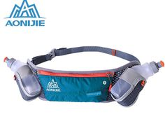 2ee7bc18c854 AONIJIE Running Men Women Fanny Pack Hydration Belt Bag Waist Pack Bottle  Holder + 2 pcs