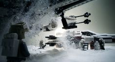 """X-Wing Dawn Patrol. """"The trusty X-Wing fighters were excellent machines, good enough to withstand the freezing Hoth nights. They were frequently used for early morning orbital scout patrols during the rebel occupation on Hoth."""""""