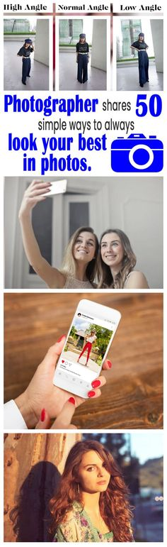 Pro photographer shares 50 simple ways to always look your best in photos - Photography, Landscape photography, Photography tips Creative Pictures, Cool Photos, How To Look Better, That Look, Good Posture, Photoshop Tips, Simple Way, Simple Things, Photo Tips