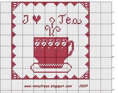 Romy's Cross Stitch Patterns: I LOVE TEA